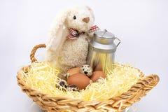 Wielkanocny królik i świeży rolny produkt spożywczy fotografia stock