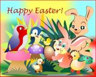 Wielkanocny królik i jego przyjaciele Zdjęcie Royalty Free