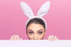 Wielkanocny królik ja jest ja ! Zdjęcie Stock
