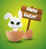 Wielkanocny królik kluje się od jajka royalty ilustracja