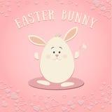 Wielkanocny królik Na Różowym tle zdjęcie royalty free