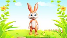 Wielkanocny królik robi walkowerowi royalty ilustracja