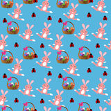 Wielkanocny królik seameless Zdjęcie Stock