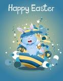 Wielkanocny królik strzela up od Easter jajka royalty ilustracja