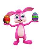 Wielkanocny królik z colourful jajkami Obraz Royalty Free