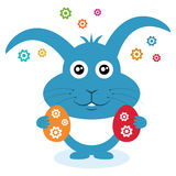 Wielkanocny królik z jajkami. Zdjęcie Stock