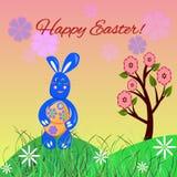 Wielkanocny królik z jajkiem Ilustracji