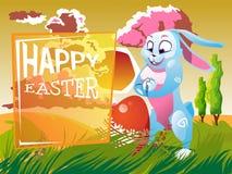 Wielkanocny królik z jajkiem Obraz Stock