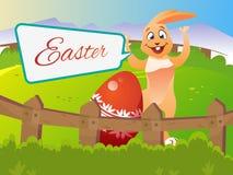 Wielkanocny królik z jajkiem Zdjęcia Stock