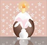 Wielkanocny królik z tortem. Obrazy Stock