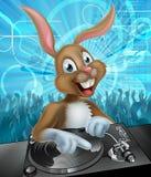 Wielkanocny królik DJ Bawi się Obraz Stock