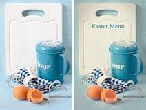 Wielkanocny menu. Fotografia Royalty Free