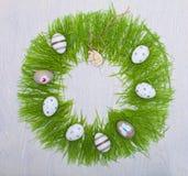 Wielkanocny pojęcie z kolorowymi jajkami Zdjęcie Stock