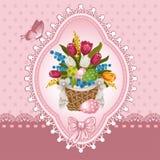 Wielkanocny powitanie ilustracja wektor