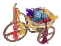 Wielkanocny rower z jajkami Obraz Royalty Free
