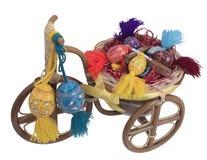 Wielkanocny rower z jajkami i krzyżem Obrazy Stock
