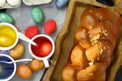 Wielkanocny słodki brioche Obraz Royalty Free
