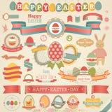Wielkanocny scrapbook set. Obrazy Royalty Free