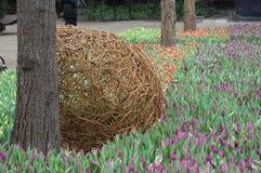 WIELKANOCNY sezonu urzędnik OEPNING W TIVOLI ogródzie Zdjęcie Stock