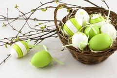 Wielkanocny skład z jajkami obrazy royalty free