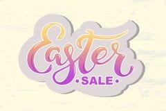 Wielkanocny sprzedaż tekst odizolowywający na textured tle Fotografia Stock