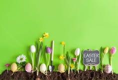 Wielkanocny sprzedaży tło Obrazy Stock