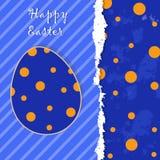Wielkanocny szablonu kartka z pozdrowieniami Zdjęcie Stock