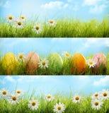 Wielkanocny sztandaru set Obrazy Stock