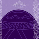 Wielkanocny tła jajka sztandar Obraz Royalty Free
