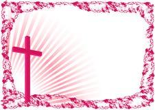 Wielkanocny tło z krzyżem ilustracja wektor