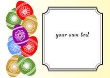 Wielkanocny tło z barwionymi jajkami Obraz Stock