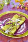 Wielkanocny tableware fotografia royalty free
