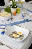 Wielkanocny tableware Fotografia Stock