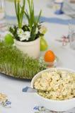 Wielkanocny tableware Zdjęcie Royalty Free