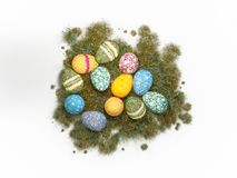 Wielkanocny wakacyjny jajko kolor odizolowywa ilustracji