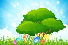 Wielkanocny wakacyjny tło royalty ilustracja