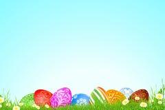 Wielkanocny wakacyjny tło ilustracji
