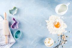 Wielkanocny wypiekowy kulinarny tło obraz stock