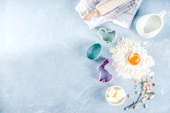 Wielkanocny wypiekowy kulinarny t?o obraz stock