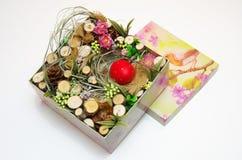 Wielkanocny wystrój w pudełku Fotografia Royalty Free