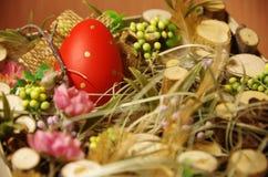 Wielkanocny wystrój w pudełku Fotografia Stock