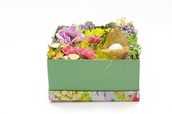 Wielkanocny wystrój w pudełku Zdjęcie Stock