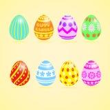Wielkanocnych jajek Colourful set Obraz Stock
