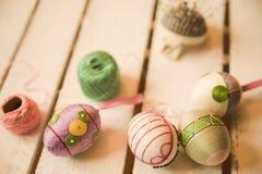 Wielkanocnych jajek craftsmanship Obrazy Stock