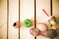 Wielkanocnych jajek craftsmanship Obrazy Royalty Free