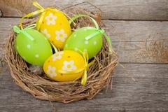 Wielkanocnych jajek gniazdeczko Zdjęcia Stock