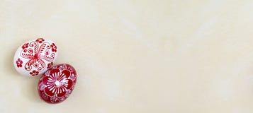 Wielkanocnych jajek kartka z pozdrowieniami szablon Zdjęcia Royalty Free