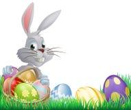 Wielkanocnych jajek królik Zdjęcia Royalty Free