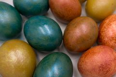 Wielkanocnych jajek miękka część skupiający się tło zdjęcia royalty free