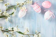 Wielkanocnych jajek rama Zdjęcia Royalty Free